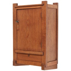 Oak Art Deco Haagse School Wall Cabinet by Henk Wouda for Pander, 1924