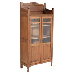 Oak Art Nouveau Arts & Crafts Bookcase, 1900s