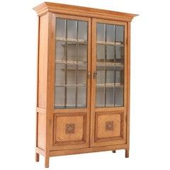 Oak Art Nouveau Arts & Crafts Bookcase Attributed to K.P.C. de Bazel, 1900s