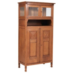 Oak Art Nouveau Arts & Crafts Bookcase by A.R. Wittop Koning for J.A. Huizinga