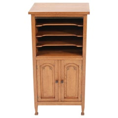 Oak Art Nouveau Arts & Crafts Cabinet, 1900s