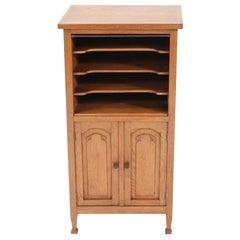 Oak Art Nouveau Arts & Crafts Cabinet, 1900s