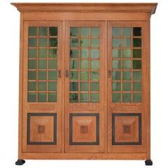 Oak Art Nouveau Arts & Crafts Library Bookcase by K.P.C. de Bazel, 1900s
