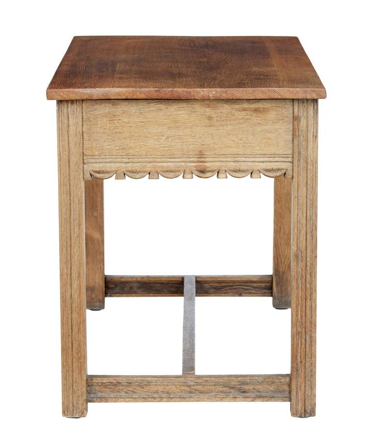British Oak Arts & Crafts Low Writing Table