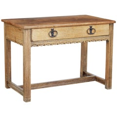 Oak Arts & Crafts Low Writing Table