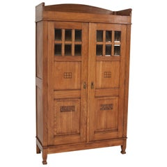 Oak Arts & Crafts Art Nouveau Bookcase, 1905