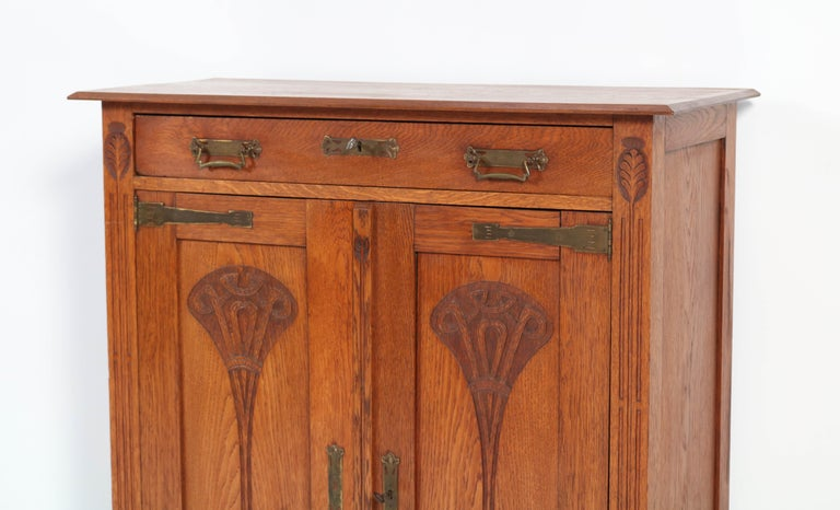 Oak Arts & Crafts Art Nouveau Cabinet, 1900s In Excellent Condition For Sale In Amsterdam, NL