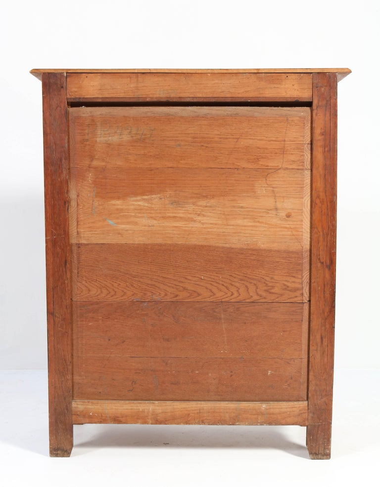 Oak Arts & Crafts Art Nouveau Cabinet, 1900s For Sale 1