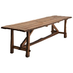 """Oak """"Bark Edge"""" Refectory Table"""