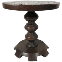 Oak Baroque Style Drinks Table