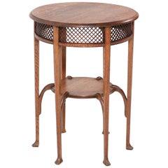 Oak Belgium Art Nouveau Coffee Table in the Style of Henry van de Velde, 1900s