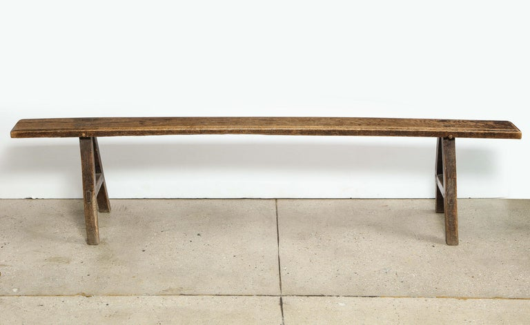 Oak Bench In Good Condition For Sale In New York, NY