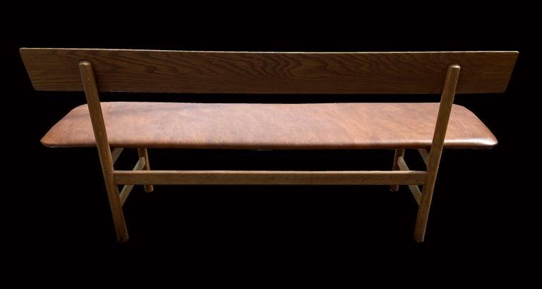 Scandinavian Modern Oak Bench Model 3171, by Børge Mogensen for Fredericia For Sale