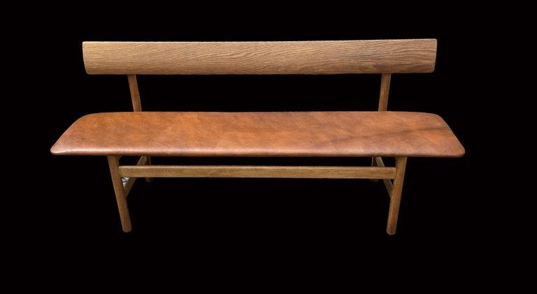 Danish Oak Bench Model 3171, by Børge Mogensen for Fredericia For Sale