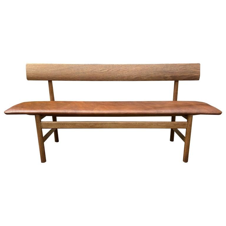 Oak Bench Model 3171, by Børge Mogensen for Fredericia For Sale