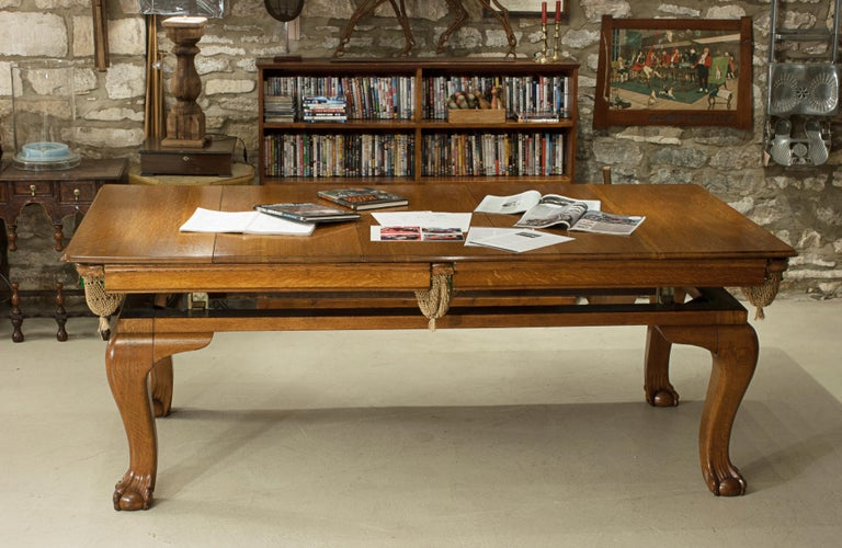 Oak Billiard, Snooker, Pool Table, Dinning Table by Riley For Sale 6