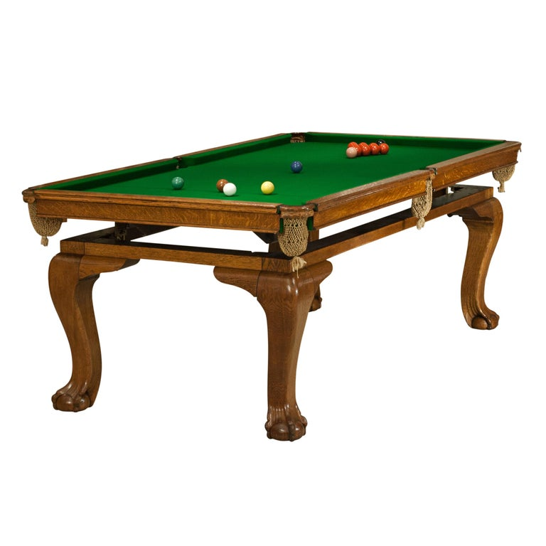 Oak Billiard, Snooker, Pool Table, Dinning Table by Riley For Sale