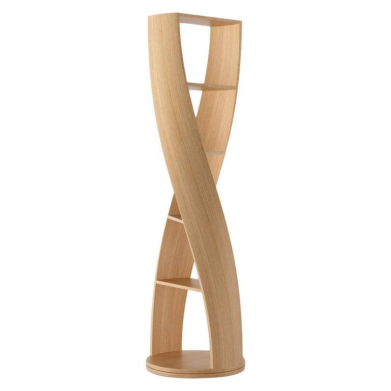 Oak Bookcase and Storage System MYDNA Collection by Joel Escalona For Sale
