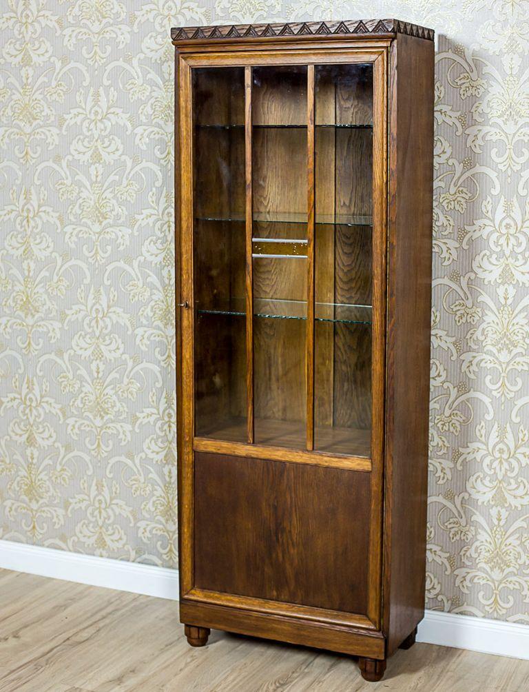 German Oak Bookcase from the Interwar Period For Sale