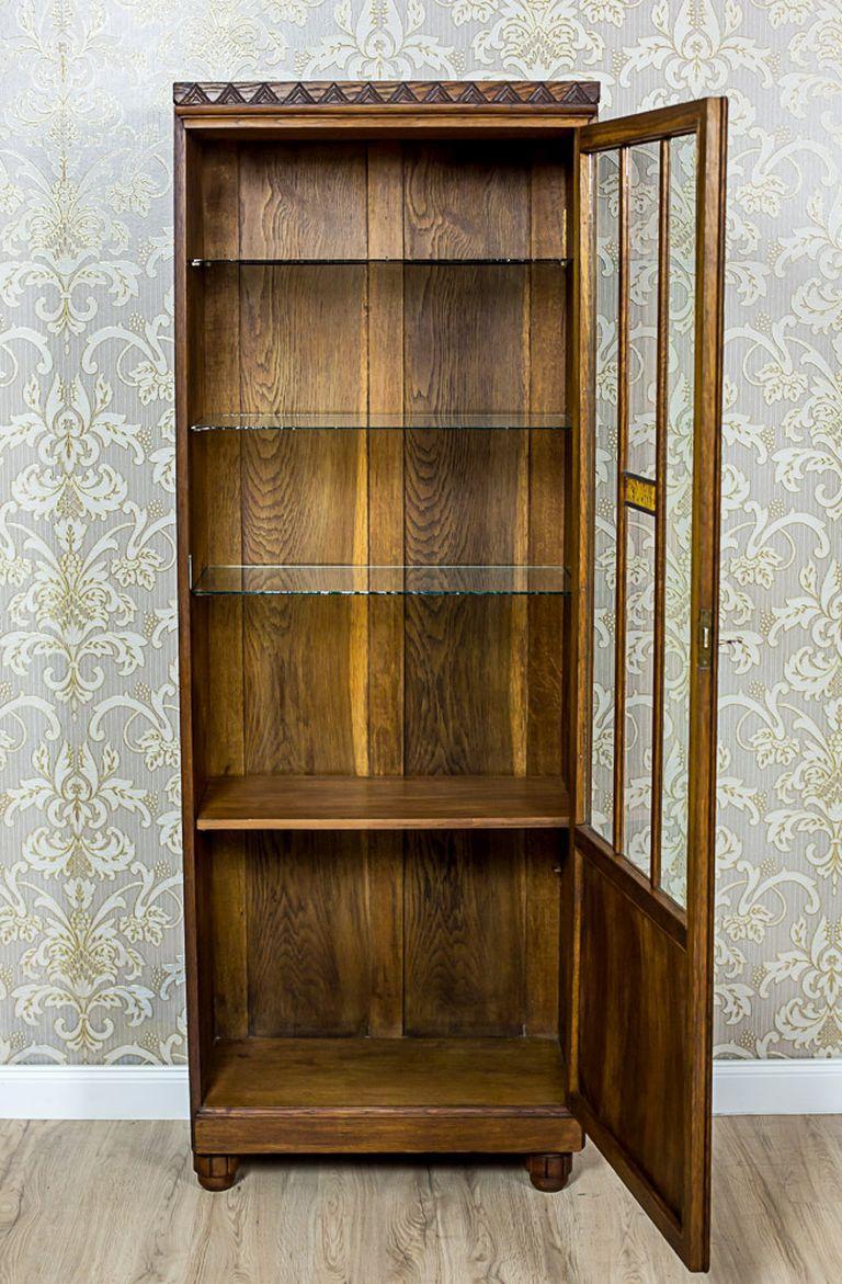 Oak Bookcase from the Interwar Period For Sale 1