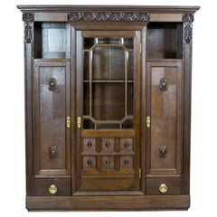 Oak Bookcase from the Interwar Period
