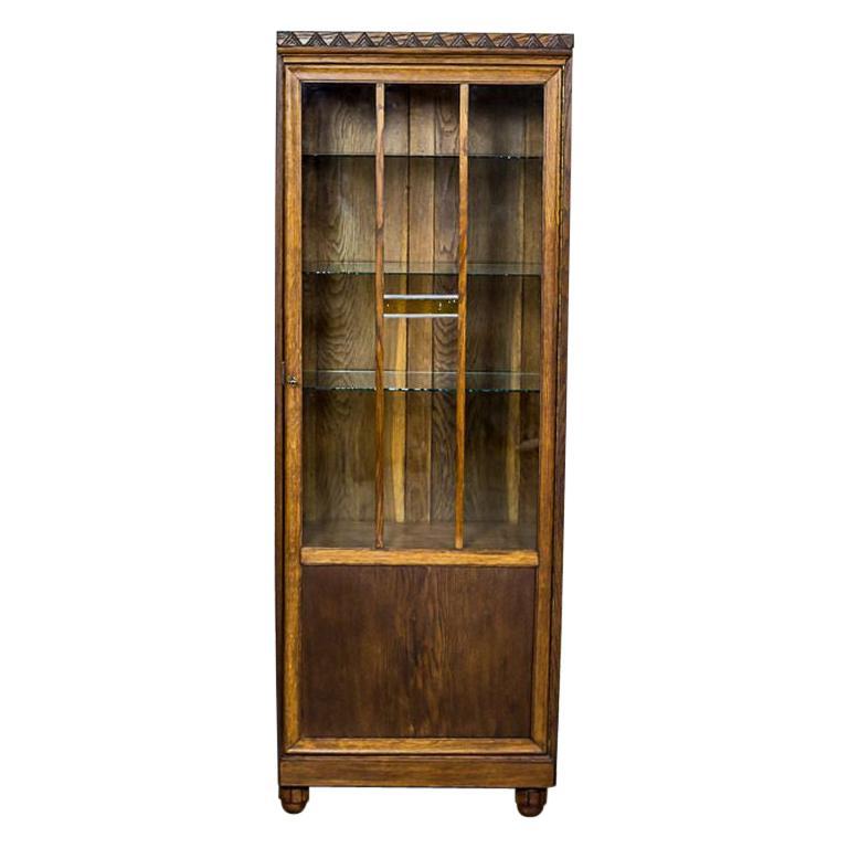 Oak Bookcase from the Interwar Period For Sale