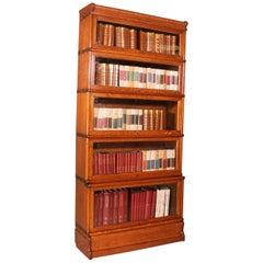 Oak Bookcase Stacking Bookcase 5 Items Globe Wernicke