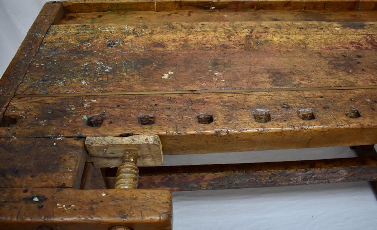 Oak Carpenter's and Joiner's Work Bench For Sale 4