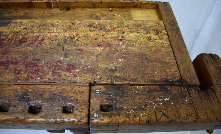 Oak Carpenter's and Joiner's Work Bench For Sale 6