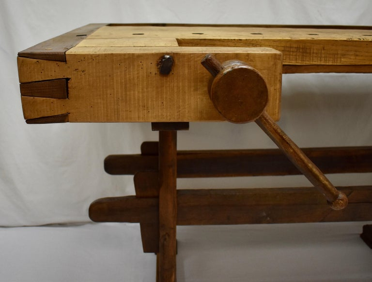 20th Century Oak Carpenter's and Joiner's Work Bench For Sale