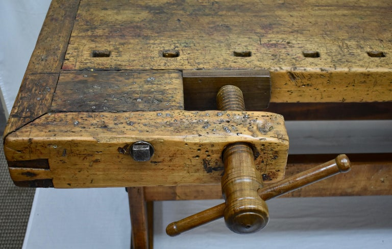 Oak Carpenter's and Joiner's Work Bench For Sale 2