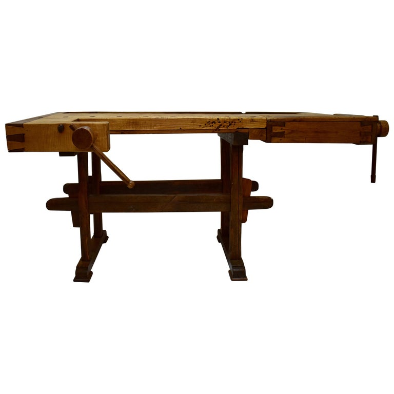 Oak Carpenter's and Joiner's Work Bench For Sale