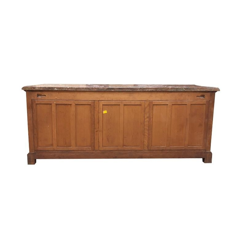 """Important richly decorated hand-carved 18th-century traditional French Provincial oak cabinet, credenza, sideboard, server, cupboard, enfilade or buffet of generous proportions.  Often referred during this time period as meubles or """"movables"""". The"""