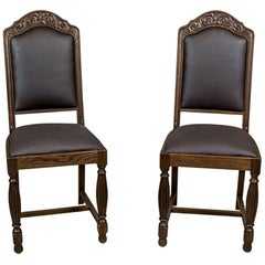 Oak, Carved Chairs from the Interwar Period