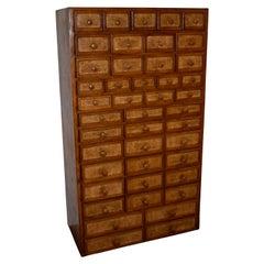 Oak Cataloging Cabinet, circa 1930