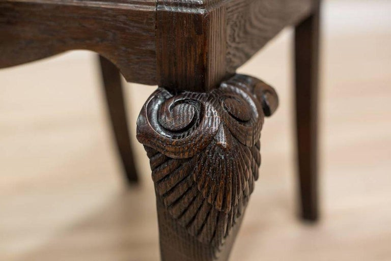 Oak Chair from the Early 20th Century For Sale 1