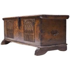 Oak chest 18th century France Haut-Savoie