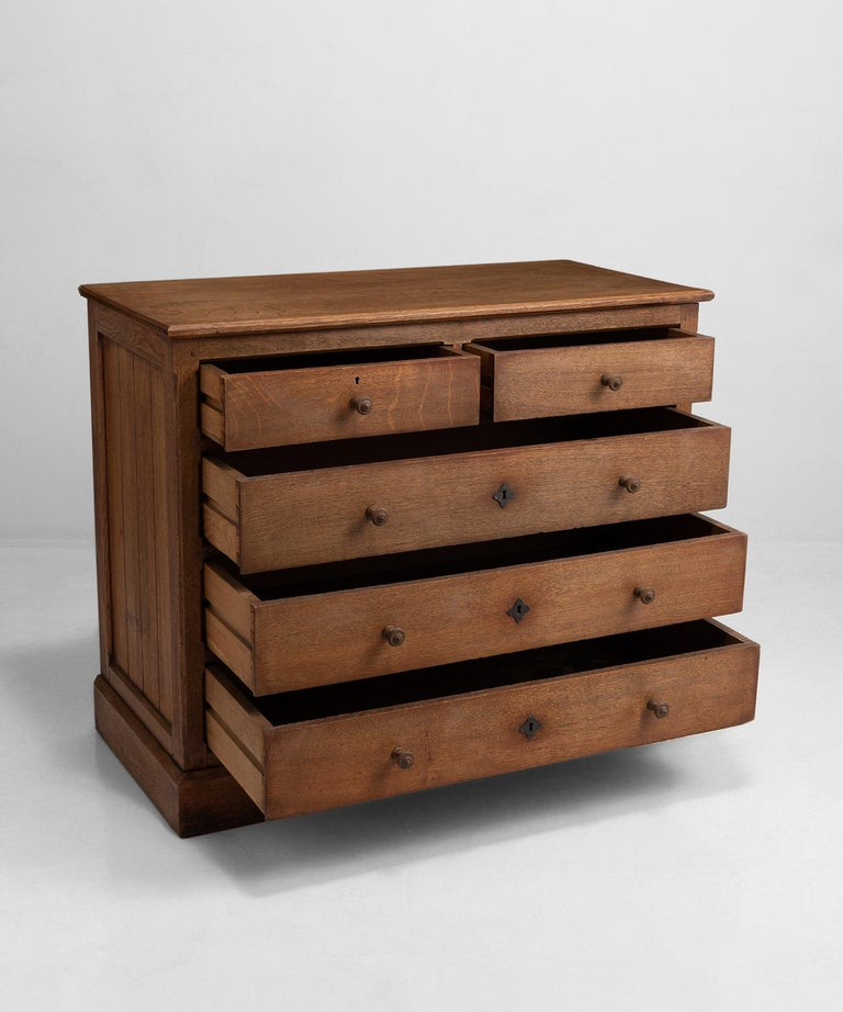 """Solid quarter sawn oak chests from an Ampleforth abbey in North Yorkshire.    Size: 43.75"""" W x 20.75"""" D x 36.25."""
