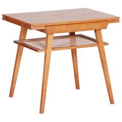 Oak Coffee Folding Table, Czech Midcentury, Architect František Jirák, 1950s