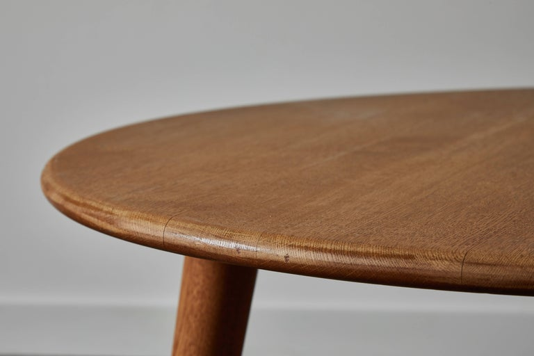 Oak Coffee Table by Hans J. Wegner for Andreas Tuck For Sale 1