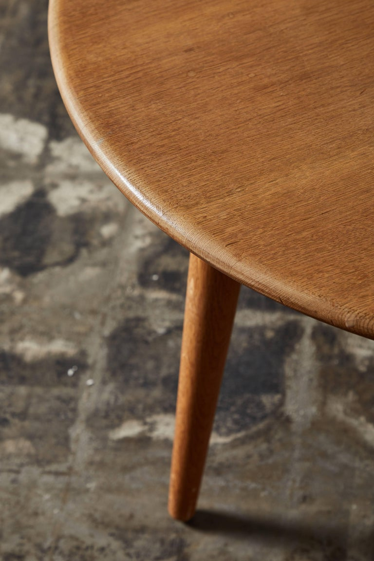 Oak Coffee Table by Hans J. Wegner for Andreas Tuck For Sale 2