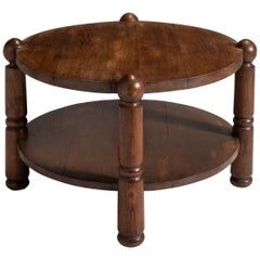 Oak Coffee Table, France circa 1940