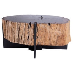 Oak Coffee Table with Organic Form from Medici Gardens in Italy