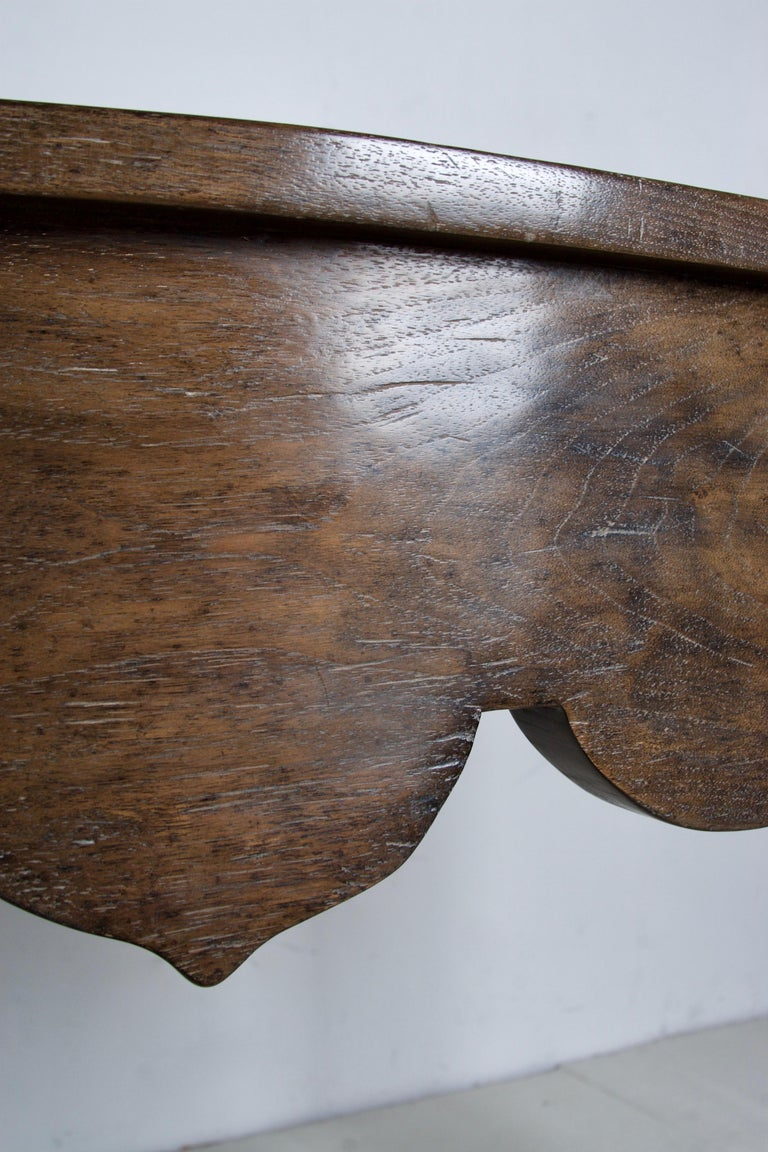 Contemporary Oak Console, Handcrafted with a Dark Oak Finish For Sale