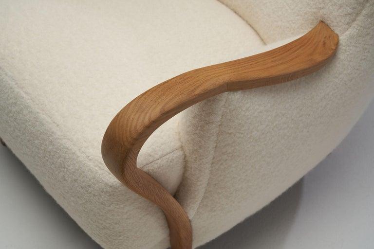 Oak Danish Cabinetmaker Easy Chair, Denmark, ca 1950s For Sale 4