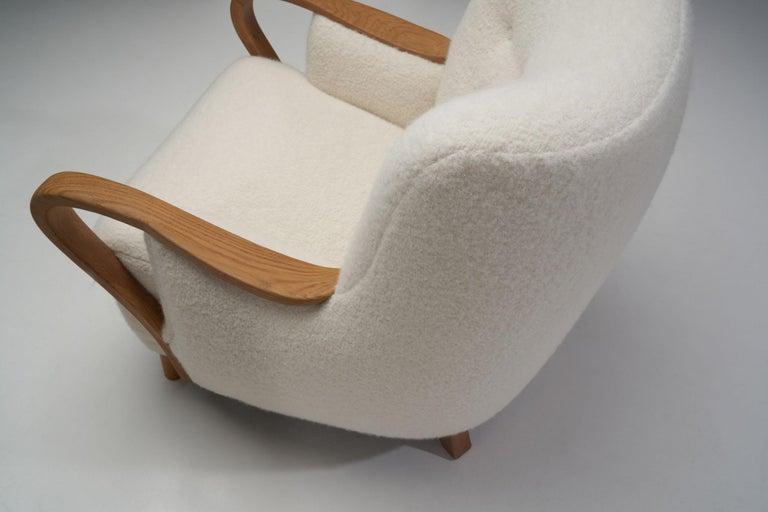Oak Danish Cabinetmaker Easy Chair, Denmark, ca 1950s For Sale 7