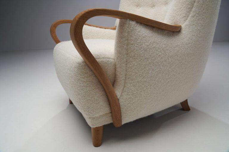 Oak Danish Cabinetmaker Easy Chair, Denmark, ca 1950s For Sale 13