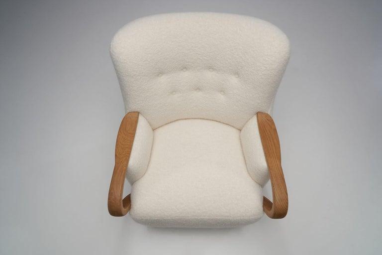 Oak Danish Cabinetmaker Easy Chair, Denmark, ca 1950s For Sale 2
