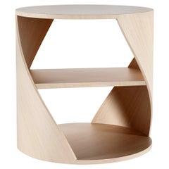 Oak Decorative Nightstand, MYDNA Side Table by Joel Escalona