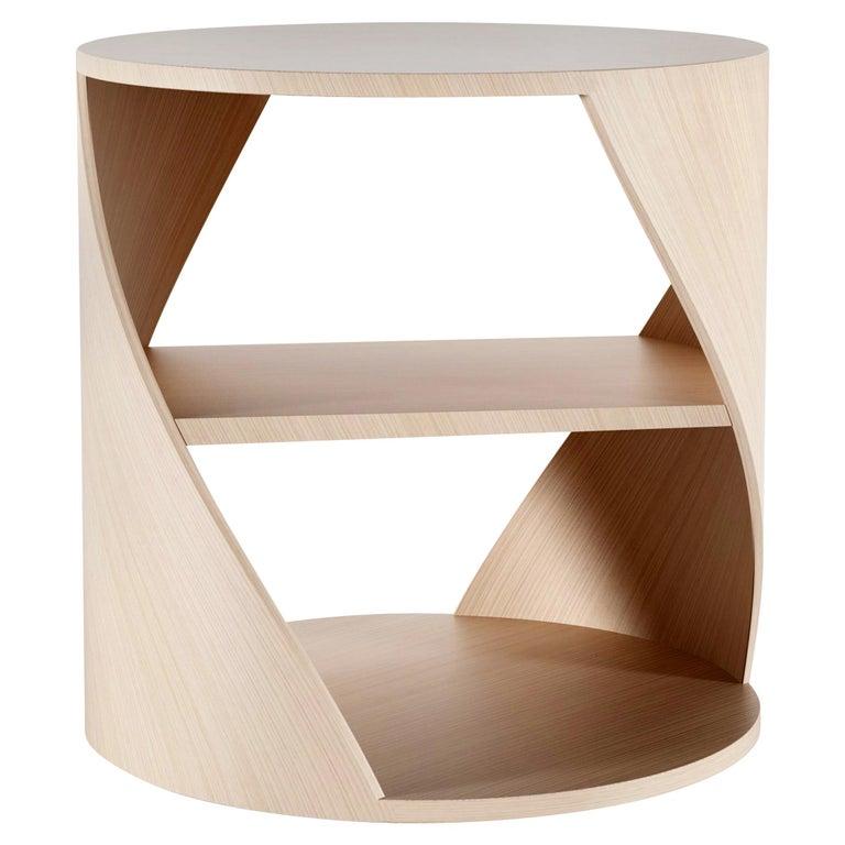 Oak Decorative Nightstand, MYDNA Side Table by Joel Escalona For Sale